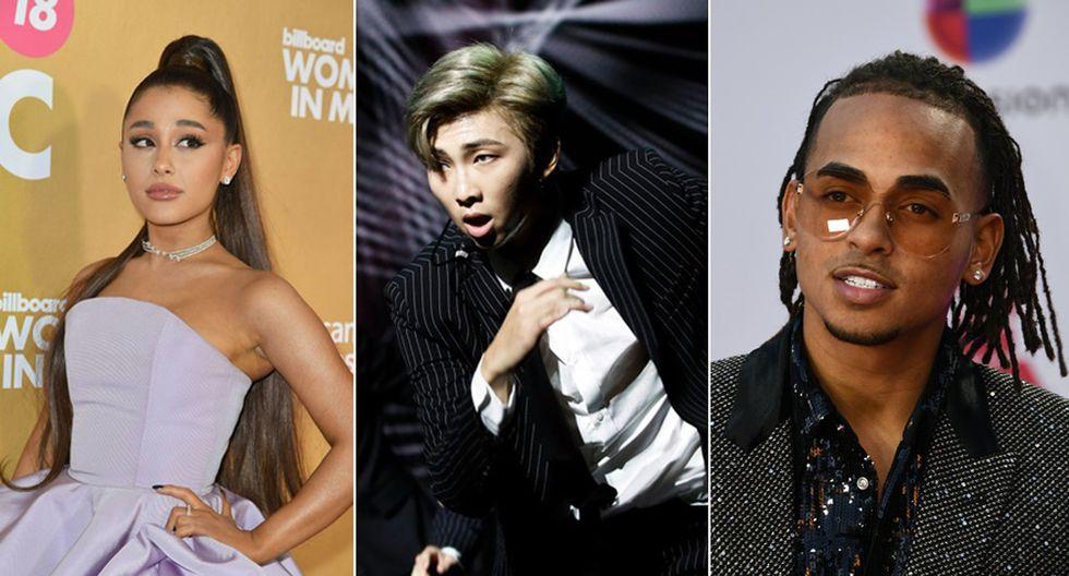 Ariana Grande, BTS y Ozuna. (Foto: Agencias)