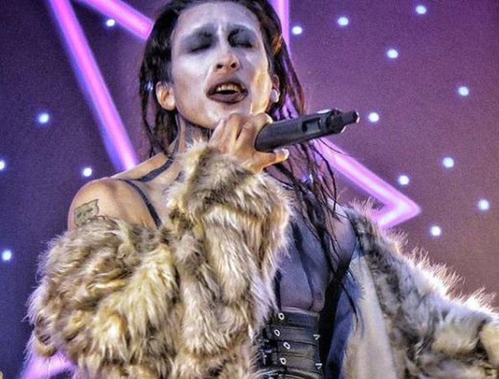"""Mike Bravo imitó a Marilyn Manson en el programa de Latina """"Yo soy"""", que esta semana culminó temporada. Los imitadores de Il Divo se impusieron. (@mike1bravo)"""