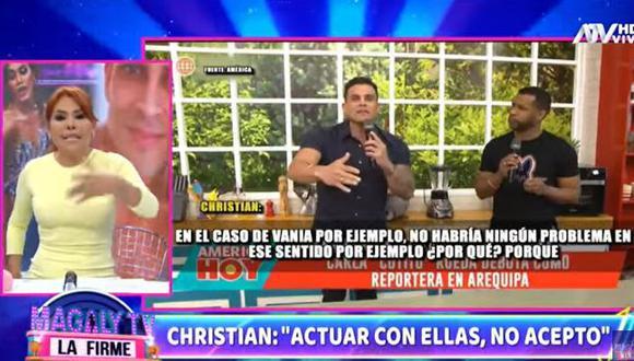 Magaly Medina sale en defensa de Christian Domínguez y arremete contra Ethel Pozo. (Foto: captura de video)