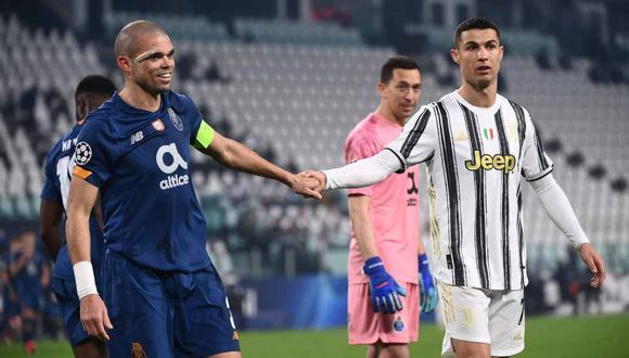 Pepe recordó tres historias con Cristiano Ronaldo. (Foto: AFP)