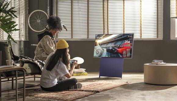 El mercado de televisores en el Perú creció un 14% en el último año. Samsung se adapta a las necesidades de su nuevo público. The Sero cambia de orientación para el contenido de redes sociales. (Foto: Samsung)