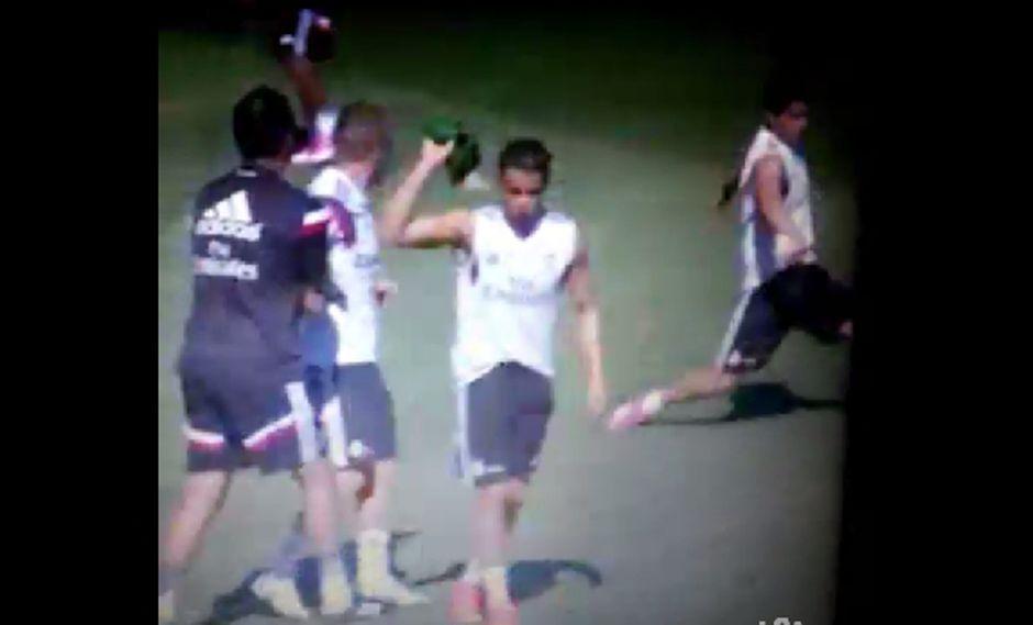 Ronaldo se molestó con Kroos durante práctica del Real Madrid