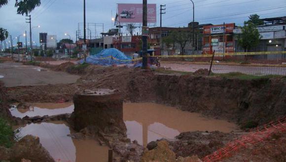 Ucayali: lluvia de 8 horas dificulta el tránsito en Pucallpa