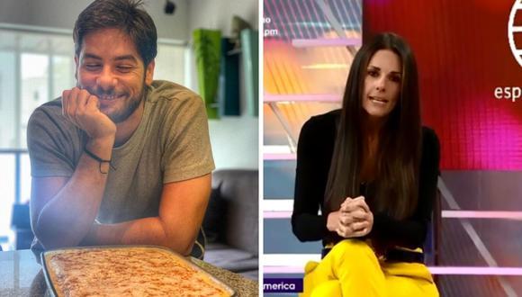 Rebeca Escribens prefirió cambiar de tema en su secuencia pues considera que el tema de Andrés Wiese no es espectáculos. (América TV / @andreswiese_r).