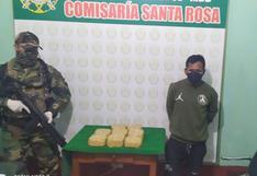 Madre de Dios: policía detuvo a dos sujetos que llevaban más de ocho kilos de droga