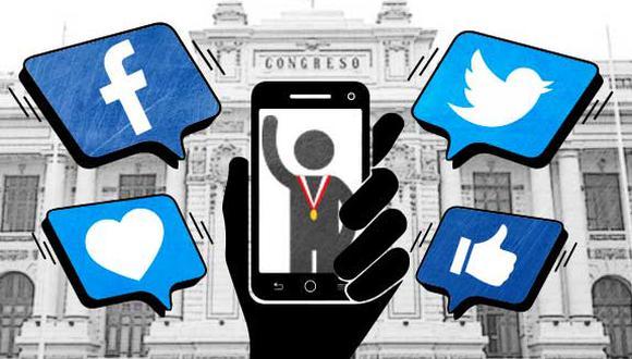 ¿Quiénes son los congresistas más activos en redes sociales? (Ilustración: El Comercio)