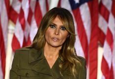 """Melania Trump cancela su aparición en un mitin de campaña con su esposo Donald Trump por """"tos persistente"""""""