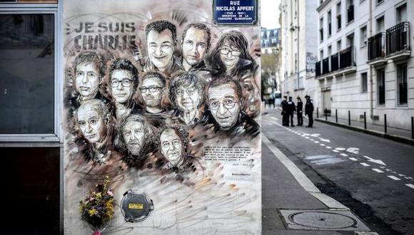 Dos hombres armados mataron a 12 personas en un ataque a la oficina de la revista Charlie Hebdo en 2015. (Getty Images).