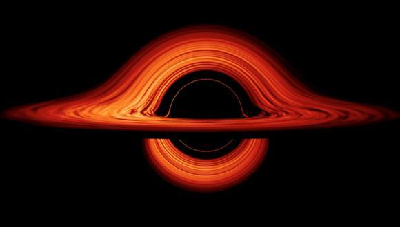 La imagen muestra el disco de gas que gira alrededor de un agujero negro. (Foto: NASA)