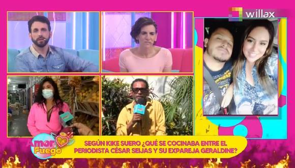 """Kike Suero sorprendió con sus declaraciones en el programa """"Amor y Fuego"""" sobre César Seijas. (Foto: Captura Willax TV)"""