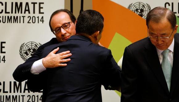 ¿A qué se debió este abrazo entre Humala y Hollande en la ONU?