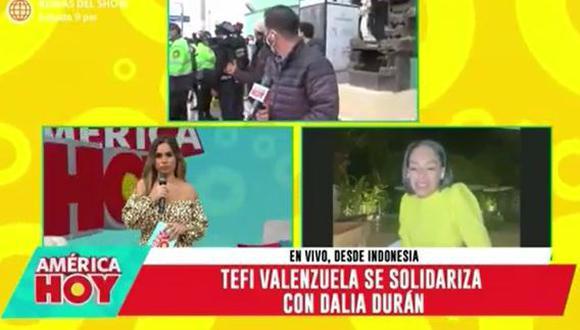 Tefi Valenzuela aconseja a Dalia Duran denunciar a John Kelvin. (Foto: captura de video)