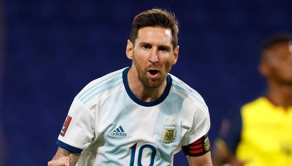 Con gol de Lionel Messi de penal, Argentina vence 1-0 a  Ecuador en la primera fecha de las Eliminatorias Qatar 2022. (Foto: AFP)