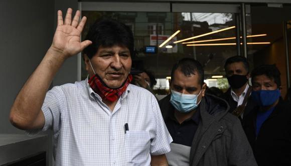 El expresidente boliviano Evo Morales salió de Argentina el 23 de octubre de 2020 en un avión oficial venezolano con destino a Caracas, informó la nueva agencia oficial argentina Télam. (Foto: AFP / JUAN MABROMATA).