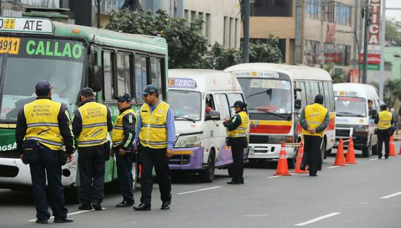 Fiscalización transporte público
