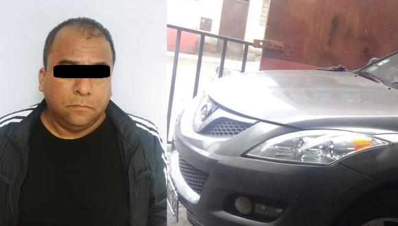 Yuilio Albertini Arana Pazos, de 47 años, fue detenido por el robo de un vehículo y pedir dinero al dueño para devolverlo.(Foto: Mininter)