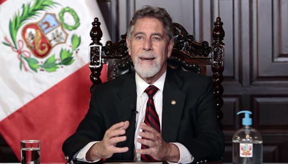 Francisco Sagasti en Mensaje a la Nación. (Foto: Andina)