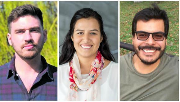 Los peruanos Mateo prochazka (epidemiólogo / londres), Alejandra Ruiz León (bioquímica / Atlanta) y José Incio (politólogo / Pittsburgh) son fuentes confiables en medio de la pandemia de coronavirus.