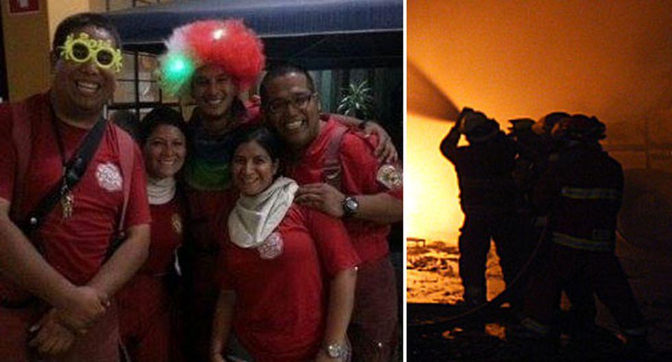 ¿Cómo celebraron el Año Nuevo 2014 los bomberos?