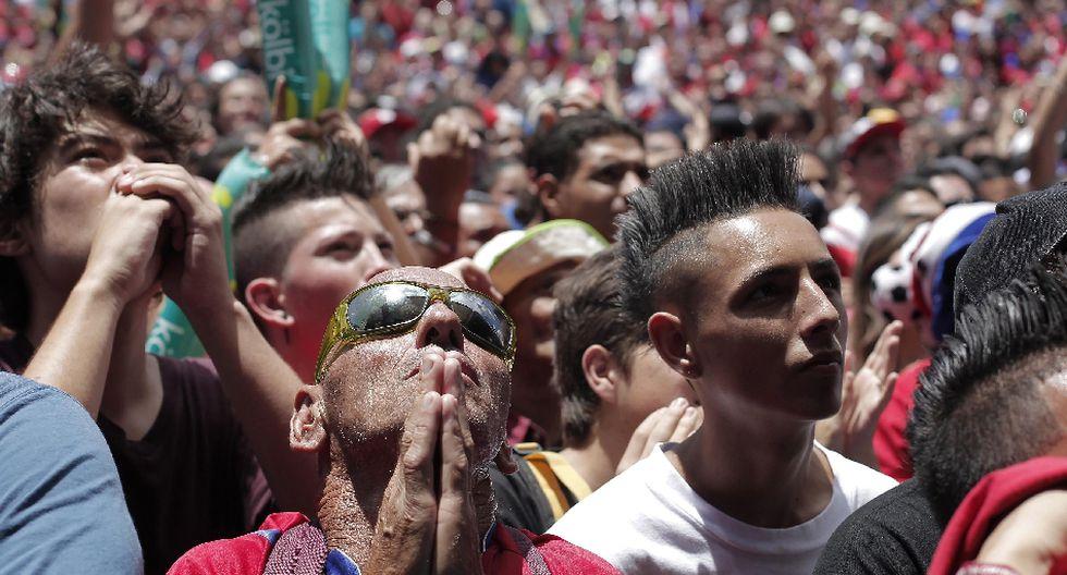 Miles de costarricenses festejaron clasificación en Brasil 2014 - 8