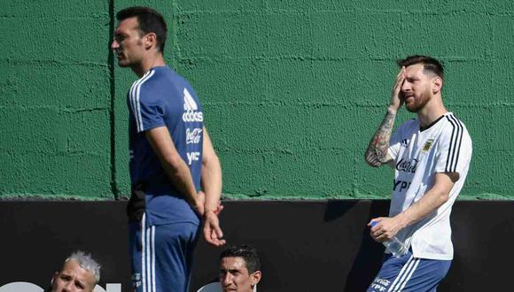 Scaloni llegó a Argentina para disputar las Eliminatorias (Foto: AFP)