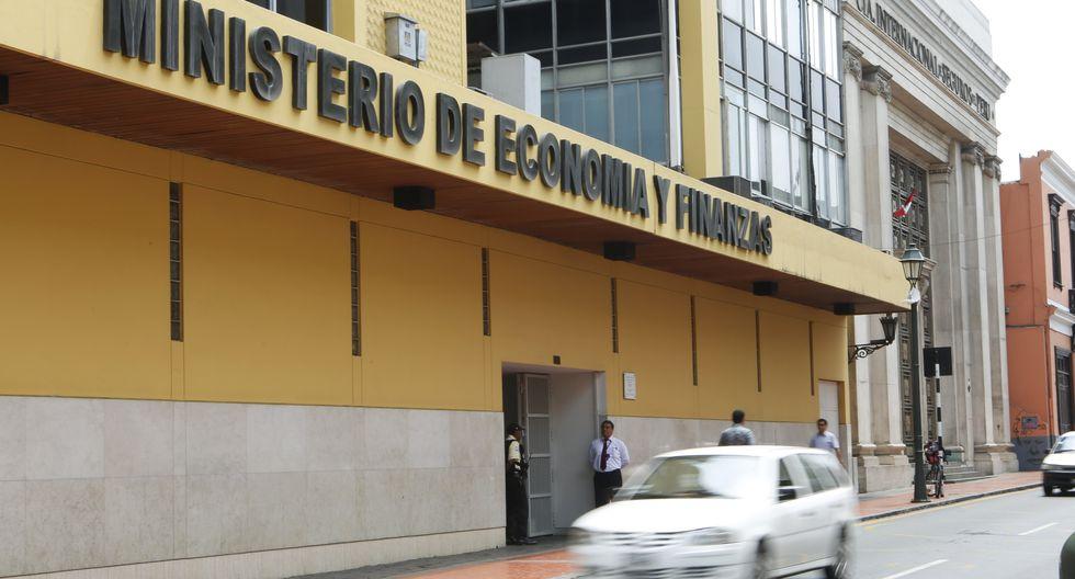 FACHADA DEL MINISTERIO DE ECONOMIA Y FINANZAS.