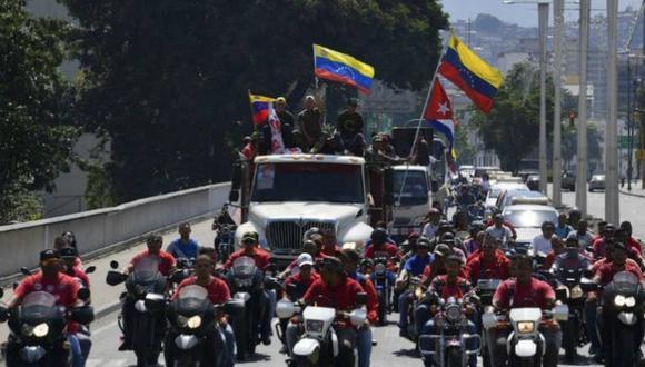 Colectivos temen que en Noruega Maduro negocie desarmarlos. Foto: Archivo de EFE
