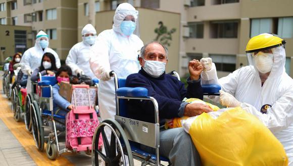 Josue Velásquez Moreno, 70 años, estuvo internado en la Villa Panamericana durante 10 días. (Hugo Curotto / @photo.gec)