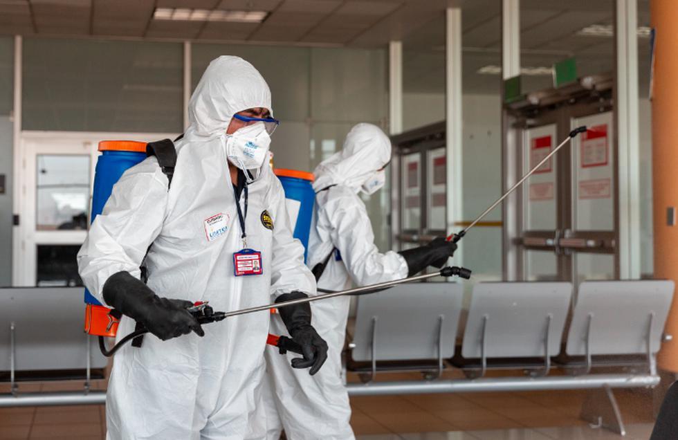Lima Airport Partners (LAP) viene ejecutando el plan de desinfección  en las instalaciones del Aeropuerto Internacional Jorge Chávez. (Foto Lima Airport Partners)