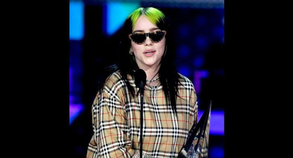 Billie Eilish en los American Music Awards 2019. (Foto: AFP)