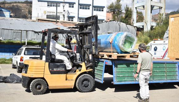 Antamina entregó un concentrador generador de oxígeno de 30 metros cúbicos por hora con un tanque de almacenamiento de 240 galones. (Difusión Hospital Víctor Ramos).