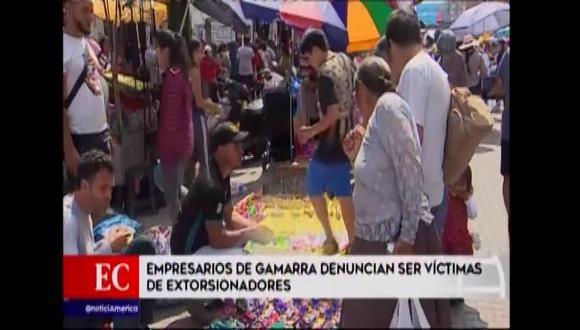 Empresarios de Gamarra señalan ser víctimas de extorsiones. (Foto: Captura de video / América Noticias)