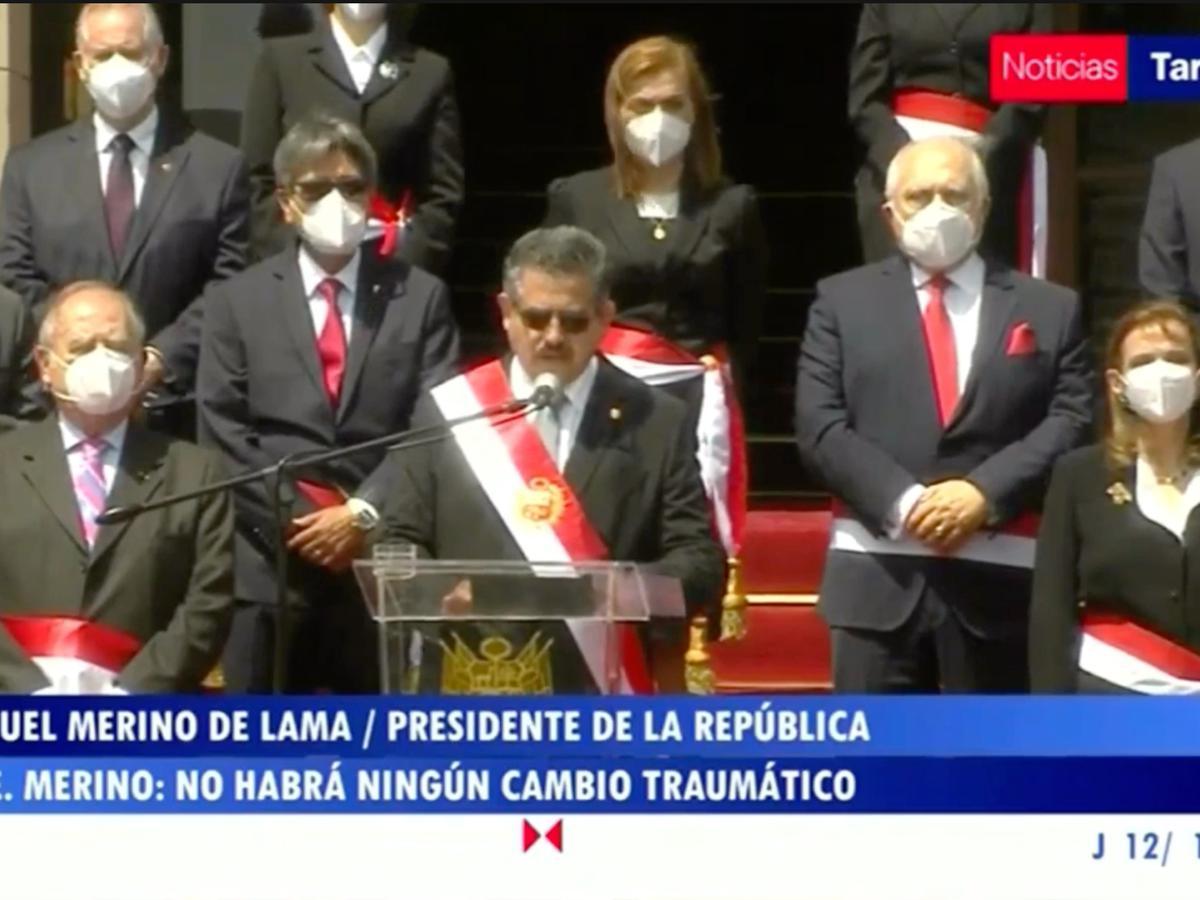 Manuel Merino No Vamos A Producir Ningun Cambio Traumatico Nnav Tvpe Video Videos Pais Videos El Comercio Peru