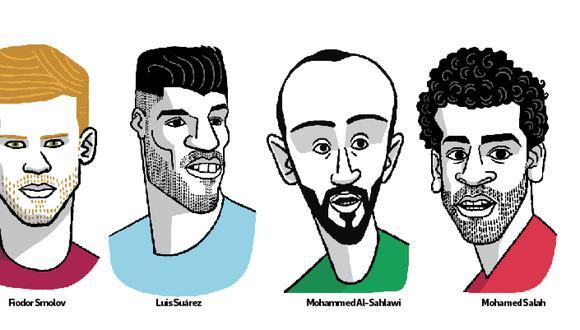 Uruguay es favorito para llevarse el Grupo A del Mundial. Rusia, Egipto y Arabia Saudí intentarán quitarle protagonismo a los charrúas. (Ilustración: El Comercio)