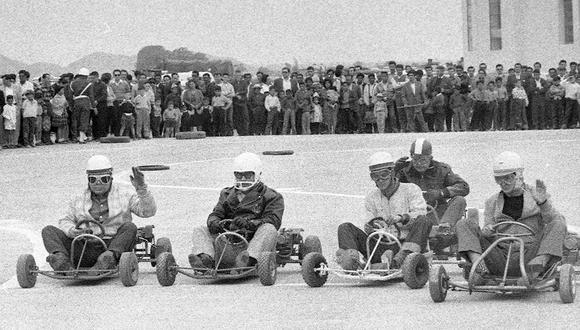 Así eran los primeros karts o 'chachicars' que llegaron a Lima. Foto: GEC Archivo Histórico