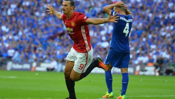 Manchester United ganó la Community Shield con gol de Zlatan