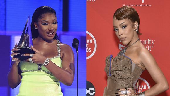 Las cantantes durante los American Music Awards del 2020. Ambas se hicieron virales por sus canciones en TikTok y compiten por el puesto de Mejor artista nuevo en la edición número 63 de los Grammy. (Foto: Cortesía de ABC para AFP)