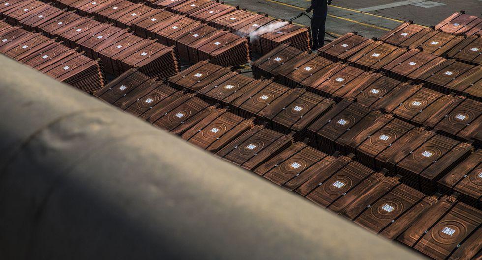 El cobre a tres meses en la Bolsa de Metales de Londres (LME) cedía un 0,3%. (Foto: Bloomberg)