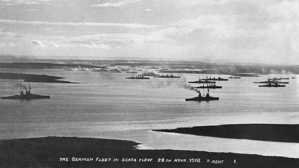 La flota estuvo siete meses en Scapa Flow antes de ser hundida deliberadamente.