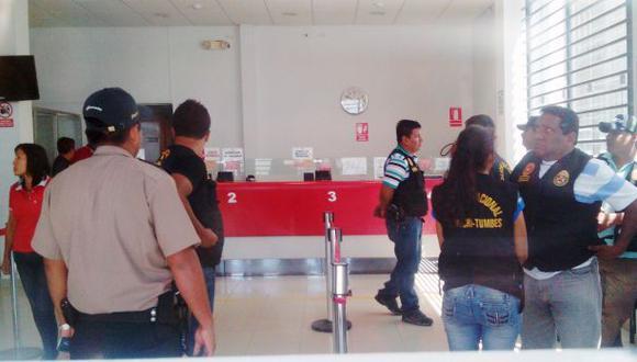 Sospechosos del robo al Banco de la Nación quedan en libertad