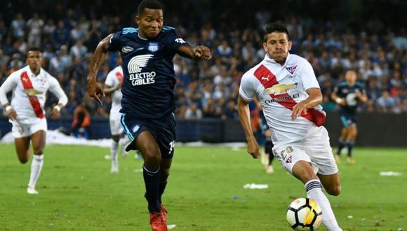 LDU de Quito igualó 1-1 ante Emelec en el partido por la final de ida de la Serie A de Ecuador . El encuentro se dio en el estadio George Capwell (Foto: agencias)