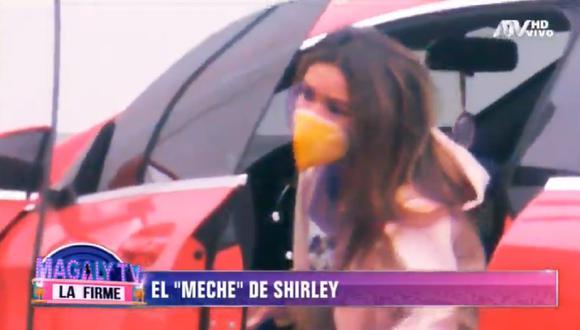 Shirley Arica conduce lujoso auto con licencia suspendida. (Foto: Captura Magaly TV: La Firme)