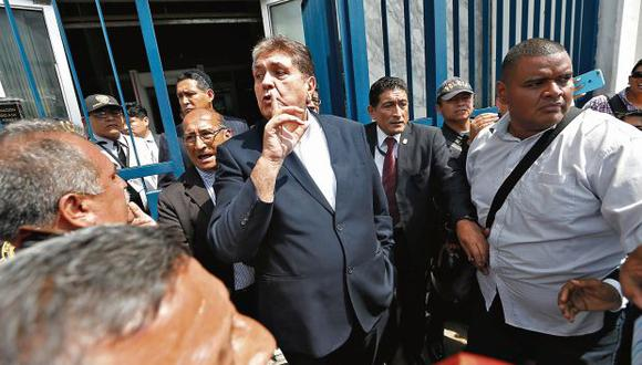 El ex presidente Alan García acudió en enero de este año a una citación de la fiscalía por el Caso Odebrecht. (Foto: Mario Zapata / GEC)
