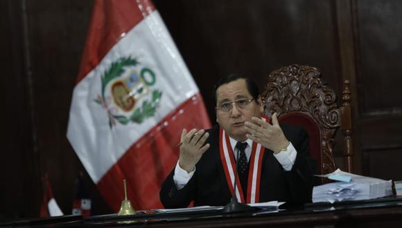 El juez supremo de investigación preparatoria Hugo Núñez Julca desestimó recurso que planteó Hugo Velásquez Zavaleta contra la investigación (Foto: Difusión)