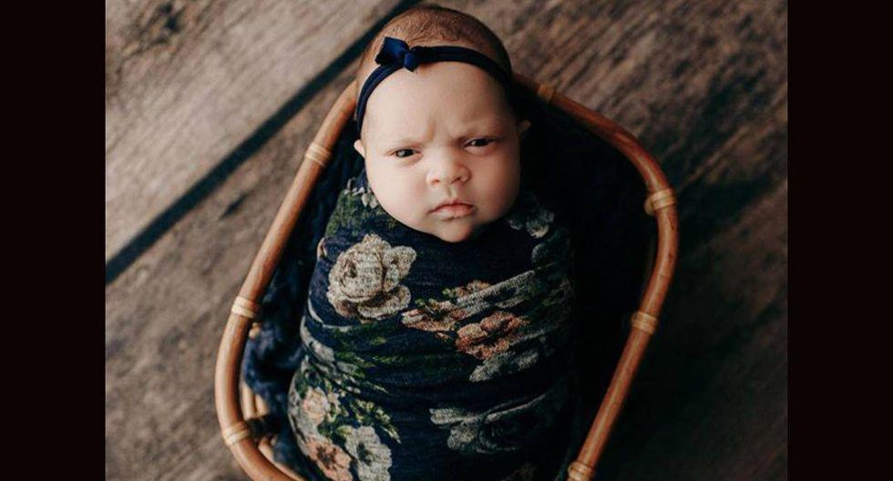 Las fotografías de la 'bebé enojada' alcanzó miles de reacciones en la red social ( Foto: Instagram)
