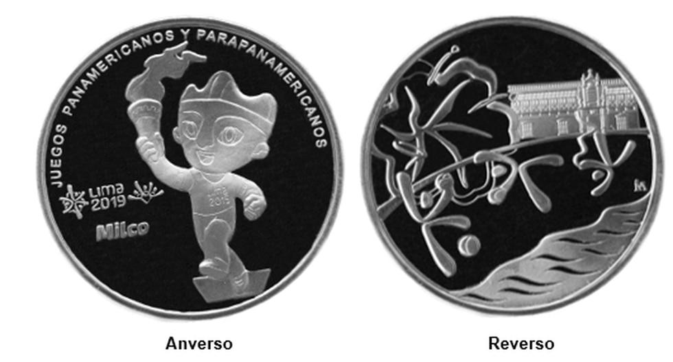 La medalla fue emitida por el BCR por motivo de los juegos deportivos internacionales que se llevarán a cabo en la ciudad de Lima por primera vez.