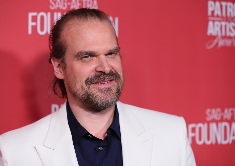 """Actor David Harbor played Randall Malone in the film """"Secret of the mountain"""".  He is currently very famous for playing Jim Hopper on the hit Netflix series. """"Stranger Things"""".  Also, he starred in the movie """"Hellboy"""" and will be part of the Marvel film """"Black Widow"""".  (Photo: Jean-Baptiste LACROIX / AFP)"""