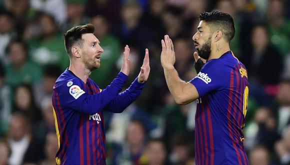 Vuelve el fútbol en España y en Barcelona Lionel Messi se volverá a juntar con Luis Suárez, quien regresa de una lesión que lo alejó de los campos desde enero. (Foto: AFP)