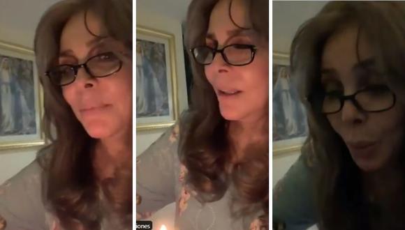 Verónica Castro en el video donde muestra su regalo de cumpleaños. (Foto: Captura de Twitter / @vrocastroficial).