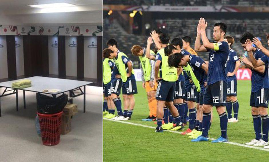 El cuadro nipón dejó limpió su vestuario y dio las gracias tras perder ante Qatar por la Copa de Asia. (Foto: Agencias).